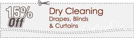 Cleaning Coupons | 15% off drapes, blinds and curtains | Carpet Cleaning Manhattan