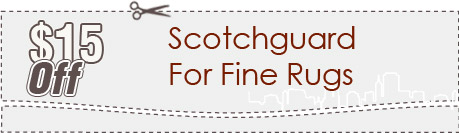 Cleaning Coupons | $15 off scotchguard for rugs | Carpet Cleaning Manhattan